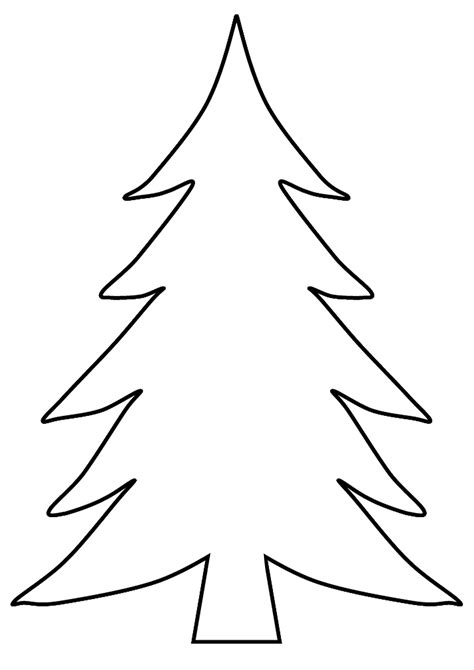 christmas tree coloring page blank traceable christmas tree coloring pages traceable best