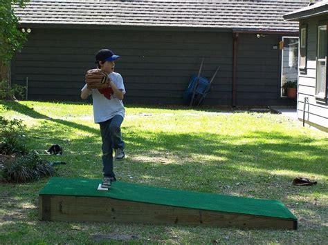 Backyard Baseball Drills Build A Portable Pitching Mound Summer 2013