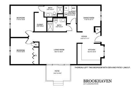 Patio Home Floor Plans by Brookhaven Patio Home Floor Plans