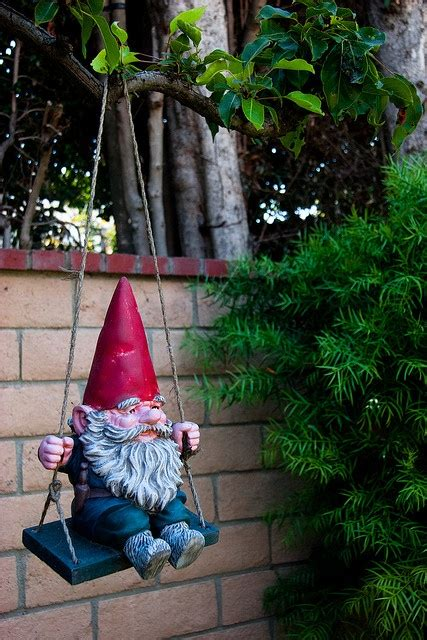 swinging gnome 25 best ideas about gnomes on pinterest fairy houses