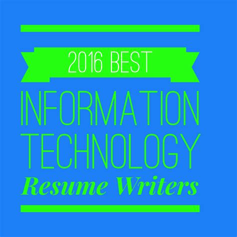 2016 best information technology resume writers rewriting your resume for results