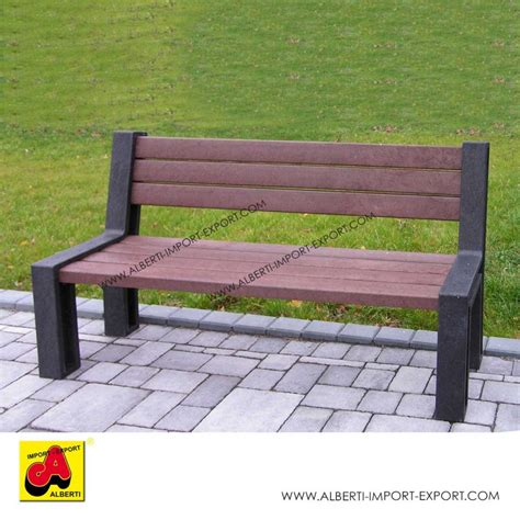 panchina parco panchina hyde park 195 cm marronecon schienale pvc riciclato