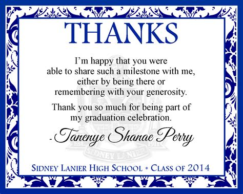 Thank You Note Template Graduation Money Graduation Thank You Cards Templates Invitations Templates