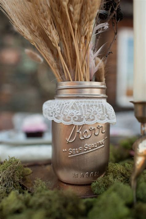 Mason Jar Wedding Love    OneWed