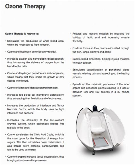 Detox Ozone by Ozone Therapy Benefits Salvagente