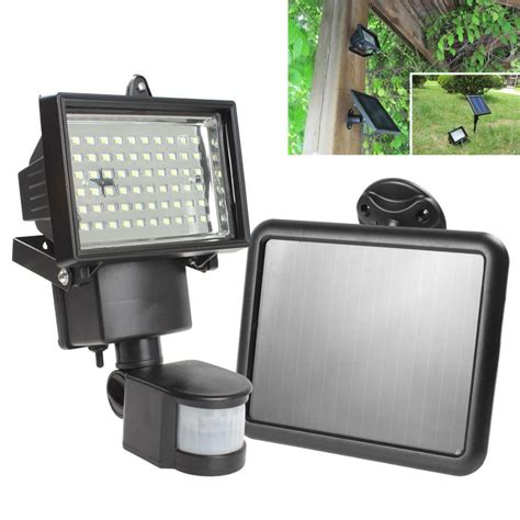 Outdoor Solar Flood Lights Led Solar Panel Led Flood Security Garden Light Pir Motion Sensor 60 Leds Path Wall Ls Outdoor