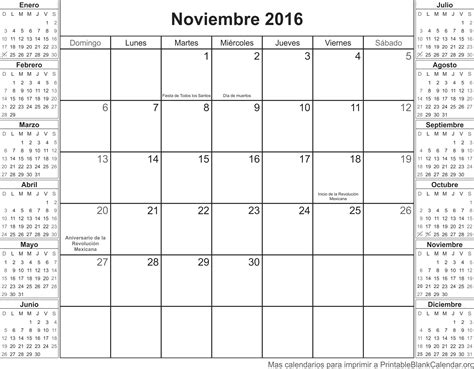 Calendario Noviembre Calendario Noviembre 2016 Para Imprimir Related Keywords