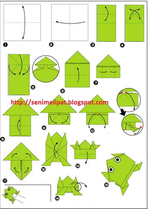 tutorial origami katak cara membuat katak dari kertas origami seni melipat