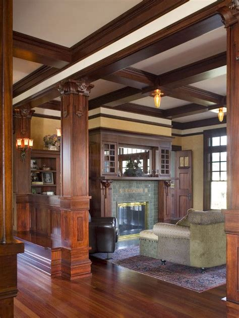 craftsman home interior design traditional living room craftsman design pictures