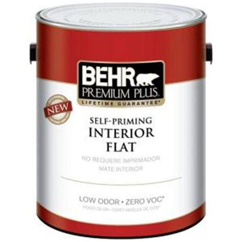 behr premium plus 1 gal swiss coffee flat zero voc interior paint 101201 the home depot