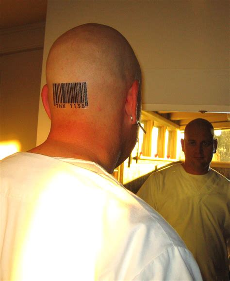 barcode tattoo on head barcode tattoo on back head for bald men tattooshunt com