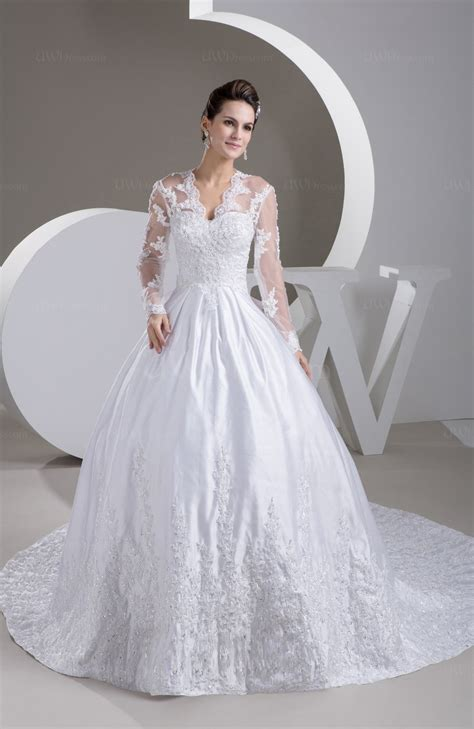 Wedding Con by Lace Bridal Gowns With Sleeves Sleeve Illusion