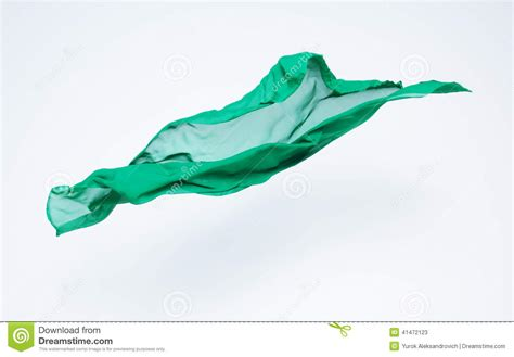 Flying On Fabric abstract of green fabric flying stock photo image