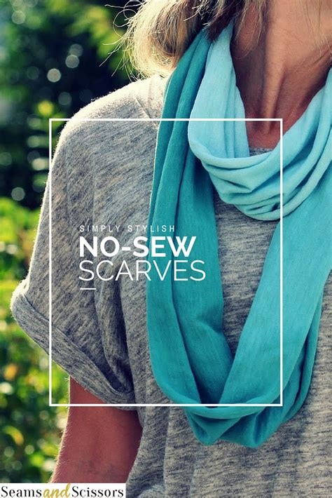 6 simply stylish no sew scarves seams and scissors