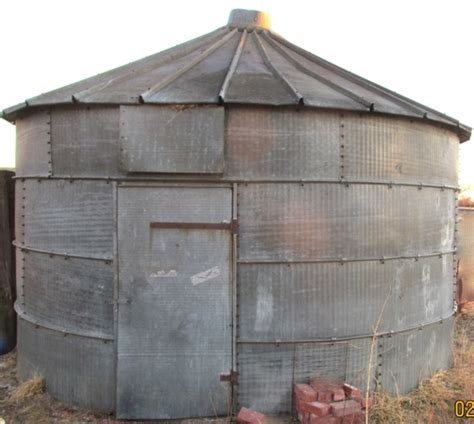 Grain Bin Shed by 2 Large Steel Grain Bins Or Storage Sheds