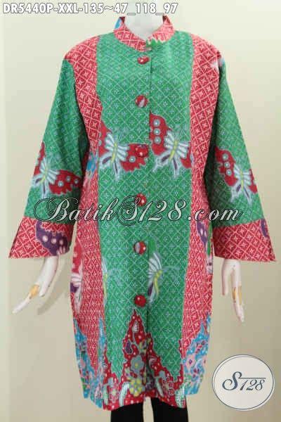 desain baju batik hijau produk baju batik modern warna hijau bahan adem motif