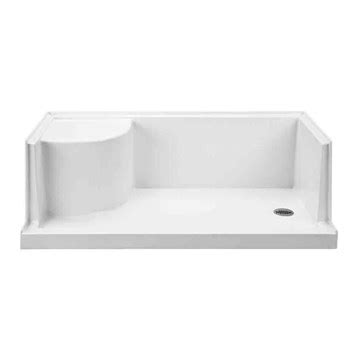 30 X 60 Shower Base With Seat mti mtsb 6030seated multi threshold shower base with seat