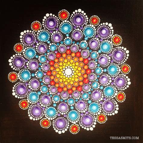 Dot Pattern Mandala | mandala dot art painting by tessa smits mandalas