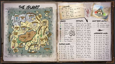 the island map for ark survival evolved by elderwraith on deviantart