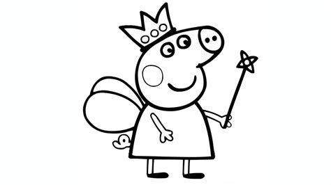 peppa pig fairy coloring pages desenhos para colorir peppa pig 45 op 231 245 es para imprimir