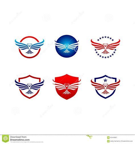 vector eagle hawk bird logo set stock vector image 62449907
