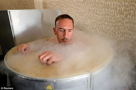 2012 franck ribery in cryotherapy chamber daily