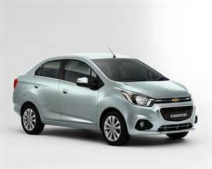 chevrolet beat essentia compact sedan rendered in silver indian autos