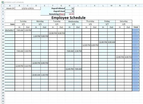 Work Schedule Maker Template Flybymedia Co Schedule Builder Template