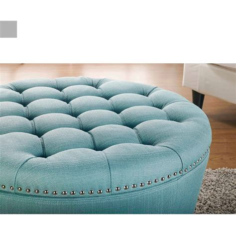 tufted turquoise ottoman round ottomans mcr4601d catalina round ottoman by cisco