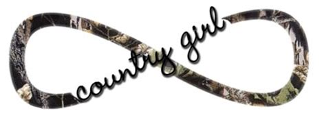 camo infinity tattoo quot country girl quot mossy oak camouflage print infinity tattoo