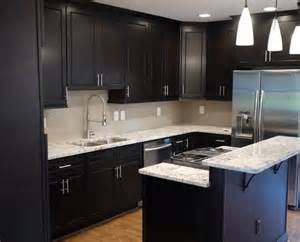 Dark Kitchen Cabinet Ideas elegant kitchens with dark cabinets ikea with white pendant lamp and