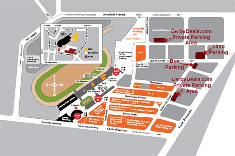 kentucky derby map kentucky derby parking derbydeals