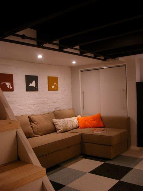 basements cement walls and carpet tiles on pinterest