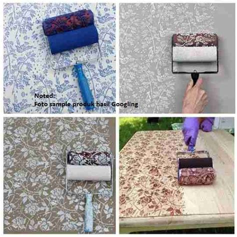 Roll Cat Motif Patterned Paint Roller 135 jual roll cat motif dinding roller paint wallpaper karakter hello juragan mainan