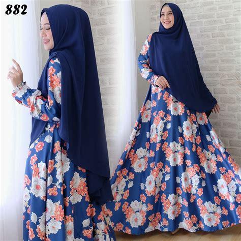 Syari Maxmara gamis syari maxmara bunga c882 busana muslim modern