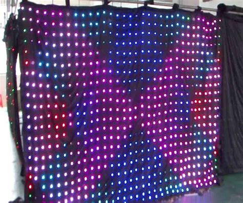 china 2x4m led video curtain led vision curtain al 9024b