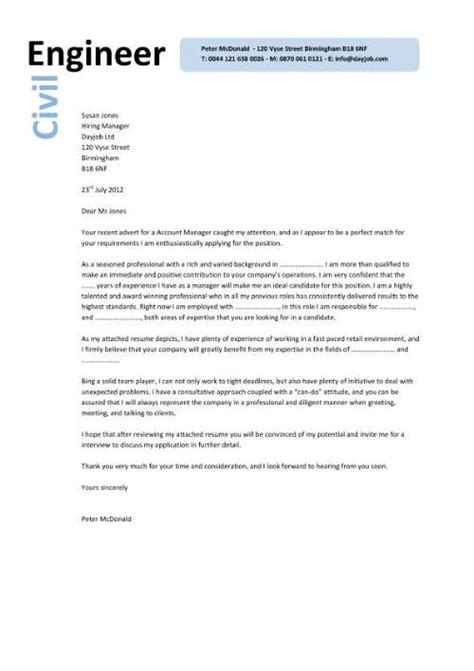 Cover Letter Civil Engineering   Experience Resumes