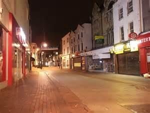 chatham high street  night  david anstiss cc  sa geograph britain  ireland