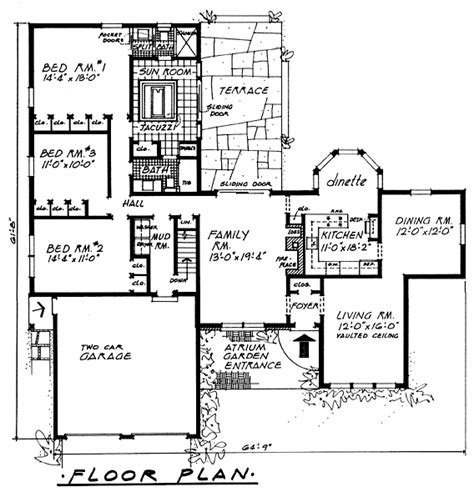 atrium ranch floor plans atrium house plans escortsea