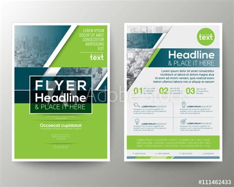 layout flyer templates green and blue geometric poster brochure flyer design