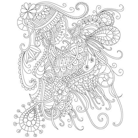 stress relief coloring pages easy adult coloring page of abstract doodle drawing for stress