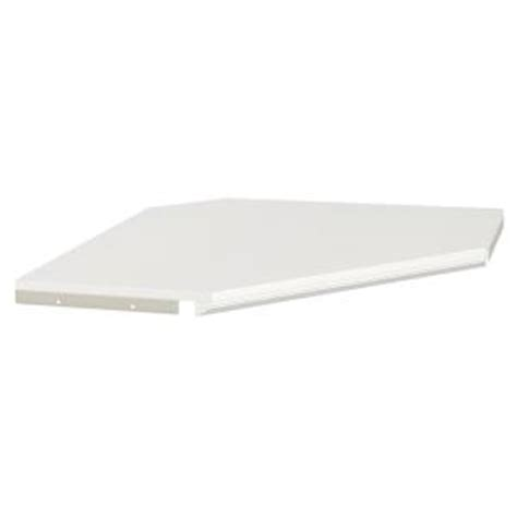 closetmaid impressions 28 in white corner shelf kit with