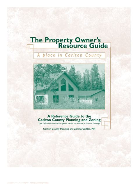 Carlton County Court Records A Place In Carlton County The Property Owner S Resource Guide Docshare Tips