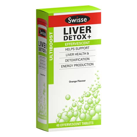 Best Liver Detox Tablets by Swisse Ultiboost Liver Detox 40 Effervescent Tablets