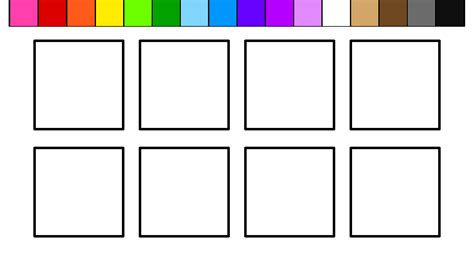 color square learn colors for and color squares coloring pages