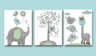 Nursery Elephant Decor Baby Boy Nursery Print Nursery Wall Wall Decor