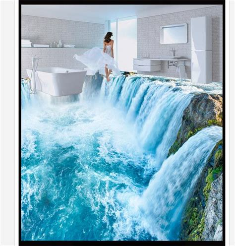 3d bathroom floor painting popular stereograph buy cheap stereograph lots from china