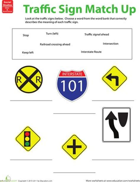 printable road sign quiz 17 best images about drivers education on pinterest high
