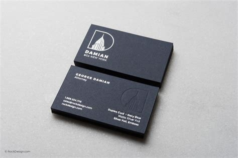 silver foil business card template print embossed logo card templates rockdesign