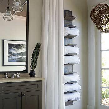 vertical towel rack bathroom bathroom with concrete floors design decor photos